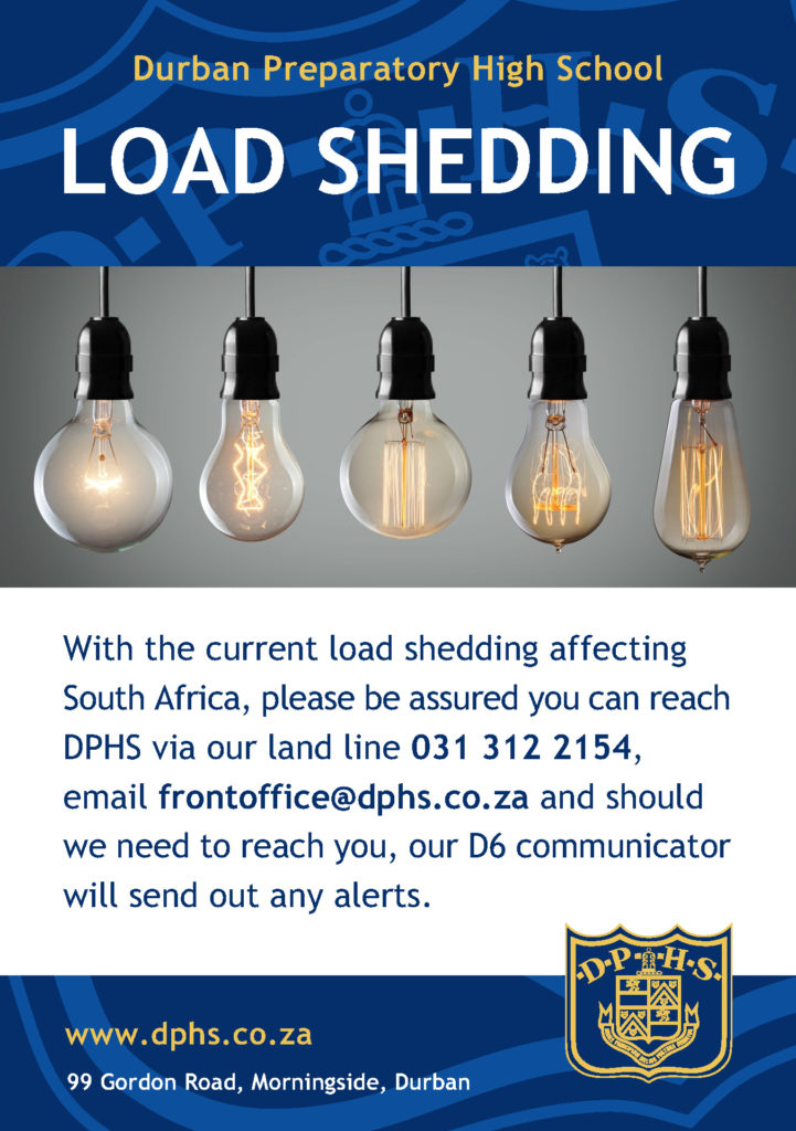 Communication During Load Shedding – DPHS